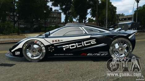 McLaren F1 ELITE Police [ELS] for GTA 4 left view