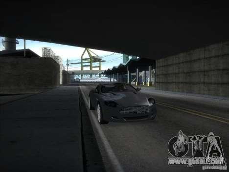 Aston Martin DB9 for GTA San Andreas back left view