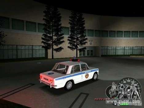 VAZ 2101 Police for GTA Vice City back view