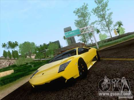 Lamborghini Murcielago LP670–4 SuperVeloce for GTA San Andreas