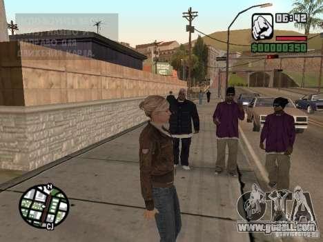 Lucy Stillman in Assassins Creed Brotherhood for GTA San Andreas forth screenshot
