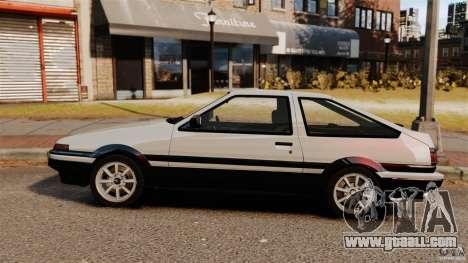 Toyota Sprinter Trueno GT 1985 Apex [EPM] for GTA 4 left view