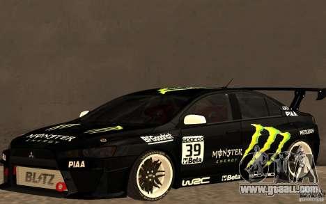 Mitsubishi Lancer Evolution X Monster Energy for GTA San Andreas