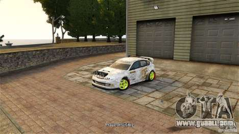 Subaru Impreza WRX STI Rallycross DC Gold Vinyl for GTA 4 right view