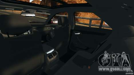 Cadillac CTS-V 2009 for GTA 4 inner view