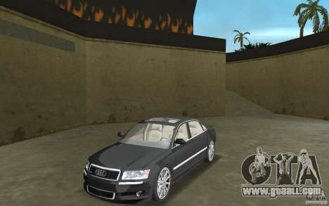 Audi A8 for GTA Vice City left view