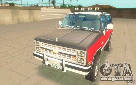 Chevrolet Blazer K5 Stock 1986 for GTA San Andreas