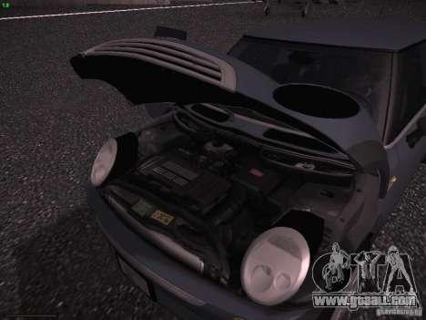 Mini Cooper S for GTA San Andreas upper view