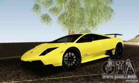 Lamborghini Murcielago LP 670-4 SV for GTA San Andreas left view