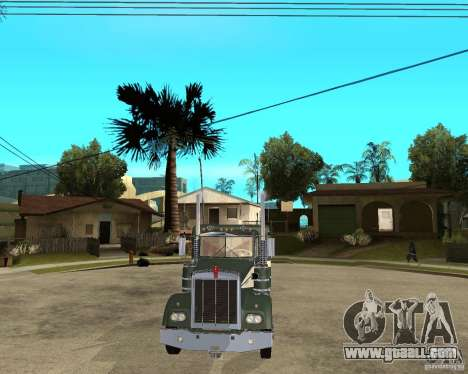 1974 Kenworth W900 for GTA San Andreas back view