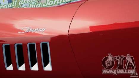 Chevrolet Corvette Stingray for GTA 4 back view
