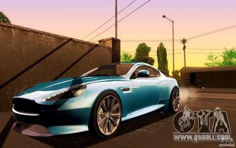 Aston Martin Virage V1.0 for GTA San Andreas left view