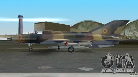 MiG 21 LanceR A for GTA Vice City back left view