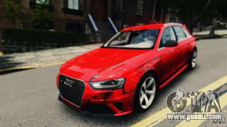 Audi RS4 Avant 2013 v2.0 for GTA 4 right view