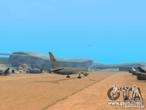 Boeing KC767 U.S Air Force for GTA San Andreas right view