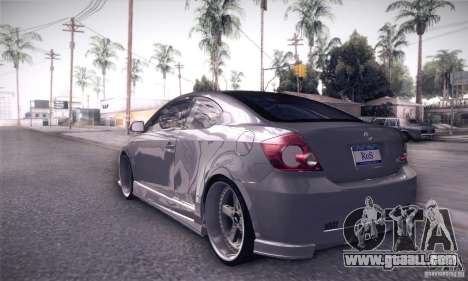 Scion Tc Street Tuning for GTA San Andreas back left view
