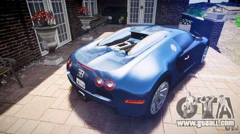 Bugatti Veyron 16.4 v3.0 2005 [EPM] Strasbourg for GTA 4 upper view