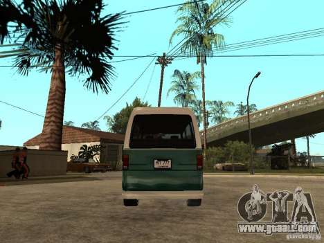 VW T1 Samba for GTA San Andreas back left view