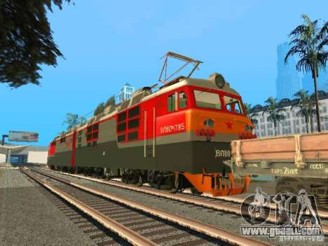 Vl80m-1785 RUSSIAN RAILWAYS for GTA San Andreas back left view
