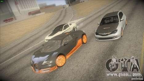 Bugatti Veyron Super Sport for GTA San Andreas upper view