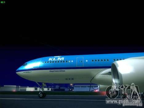 Airbus A330-200 KLM Royal Dutch Airlines for GTA San Andreas right view