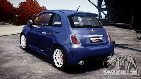 Fiat 500 Abarth SS for GTA 4 right view