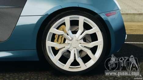 Audi R8 5.2 Stock Final for GTA 4 upper view
