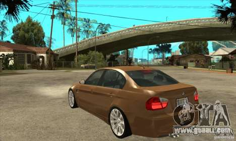 BMW E90 M3 for GTA San Andreas back left view