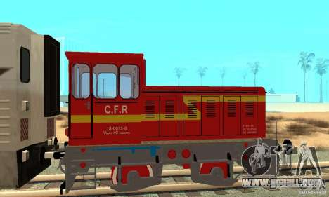 Locomotive LDH 18 for GTA San Andreas back left view