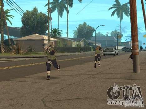 Hatake Kakashi From Naruto for GTA San Andreas sixth screenshot