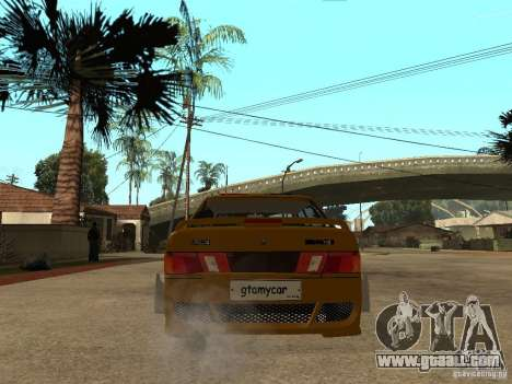 VAZ 2115 Police Car Tuning for GTA San Andreas back left view