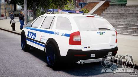 Skoda Octavia Scout NYPD [ELS] for GTA 4 upper view