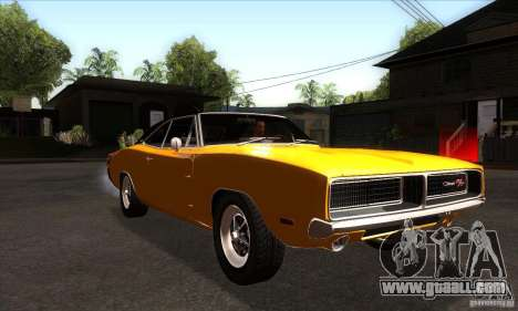 Dodge Charger RT 1969 for GTA San Andreas back view