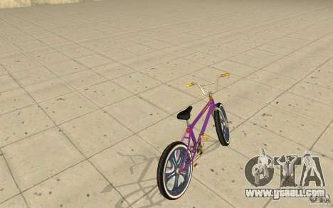 Spin Wheel BMX v1 for GTA San Andreas back left view
