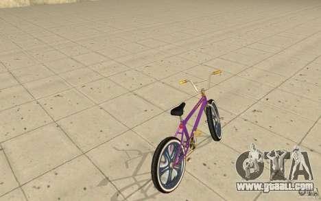 Spin Wheel BMX v1 for GTA San Andreas back left view