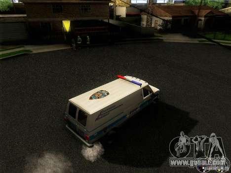 Chevrolet VAN G20 NYPD SWAT for GTA San Andreas inner view