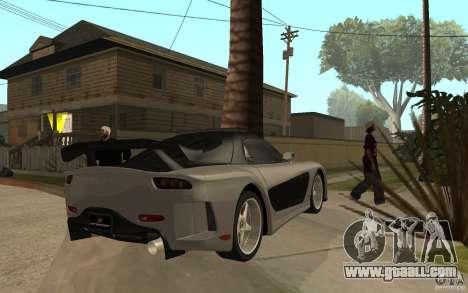 Mazda RX 7 VeilSide Fortune v.2.0 for GTA San Andreas right view