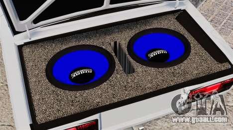 Vaz-2107 Mansory for GTA 4 back view