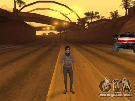FaryCry 3 Liza Snow for GTA San Andreas third screenshot