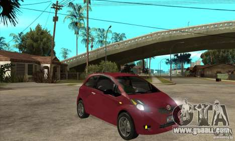 Toyota Yaris for GTA San Andreas back view