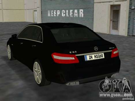 Mercedes-Benz E63 AMG for GTA Vice City right view