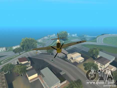 P-51 Mustang for GTA San Andreas back view