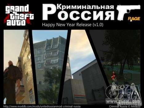 Criminal Russia RAGE for GTA 4