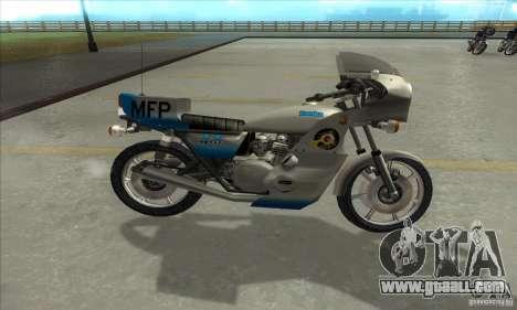 Kawasaki KZ1000 MFP for GTA San Andreas left view