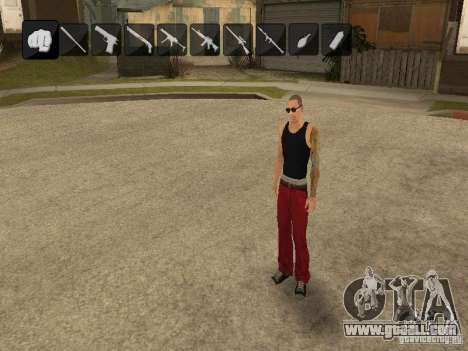 Icons when changing weapons for GTA San Andreas