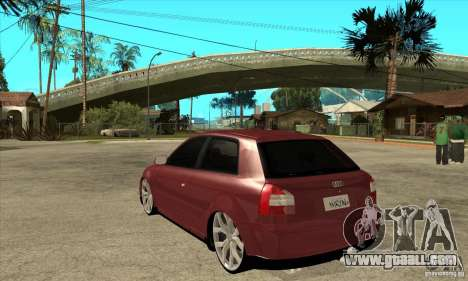 Audi A3 for GTA San Andreas back left view