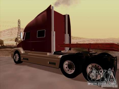 Volvo VNL 780 for GTA San Andreas back view