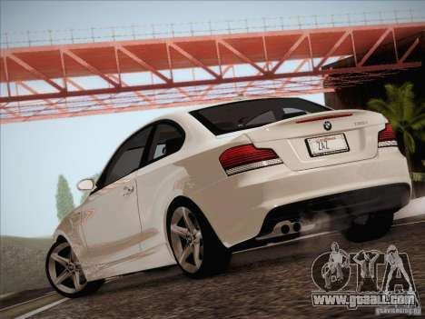 BMW 135i for GTA San Andreas back view