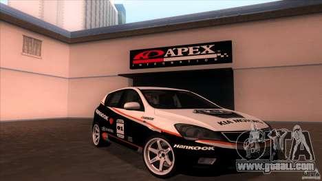 Kia Ceed 2011 for GTA San Andreas inner view