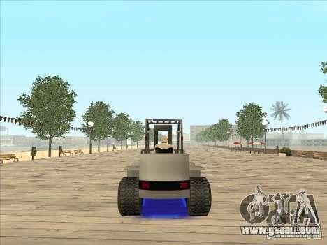 Forklift extreem v2 for GTA San Andreas left view